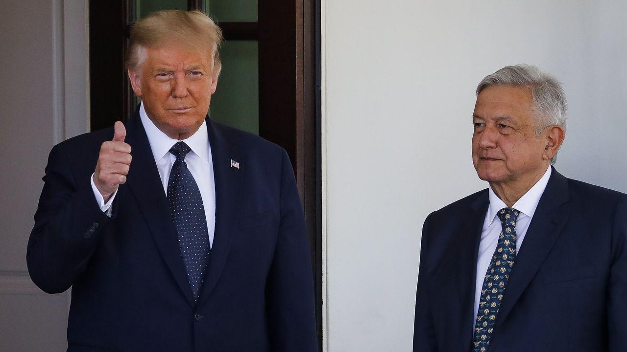Donald Trump recibió este miércoles en la Casa Blanca al presidente de México, Andrés Manuel López Obrador