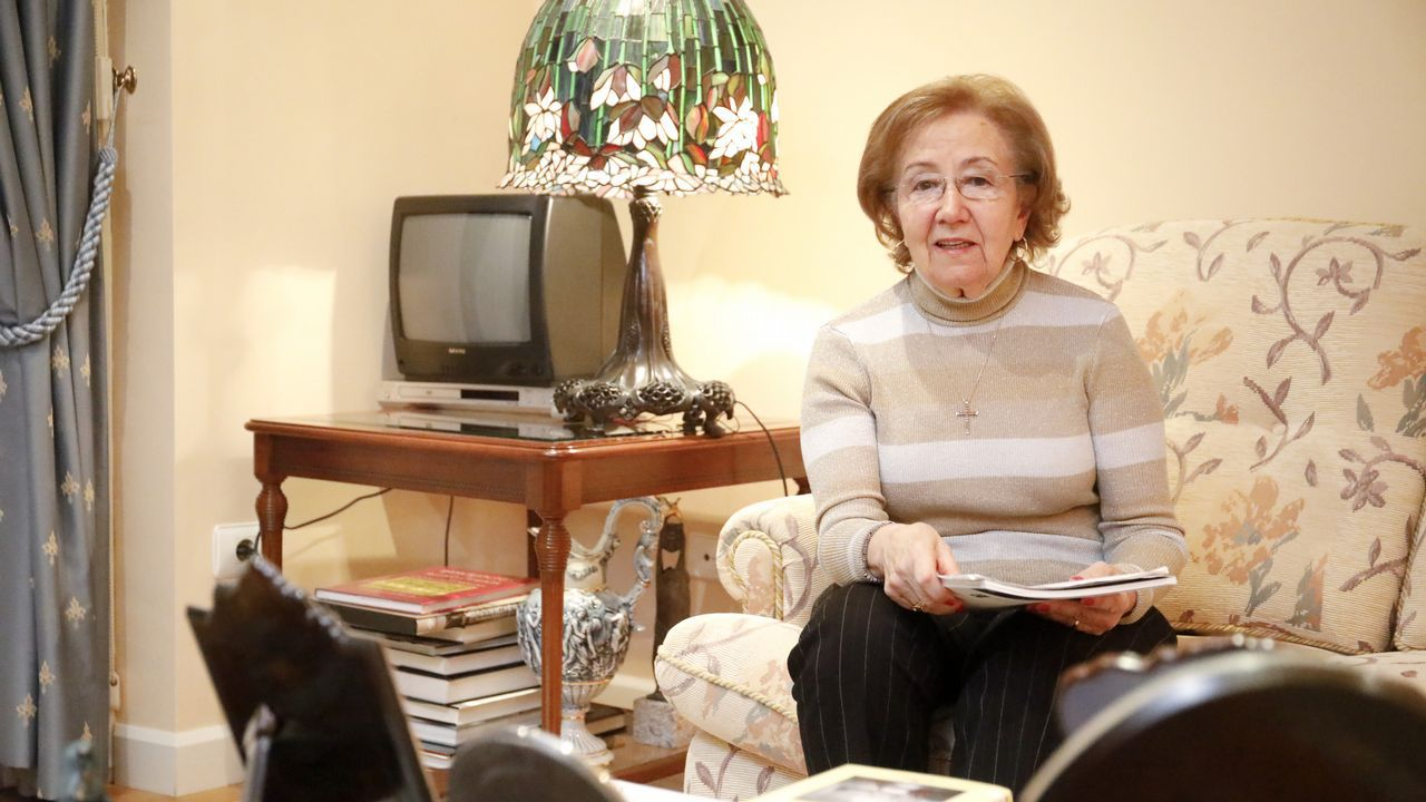 Manuela López Besteiro, esta semana en su casa de Lugo