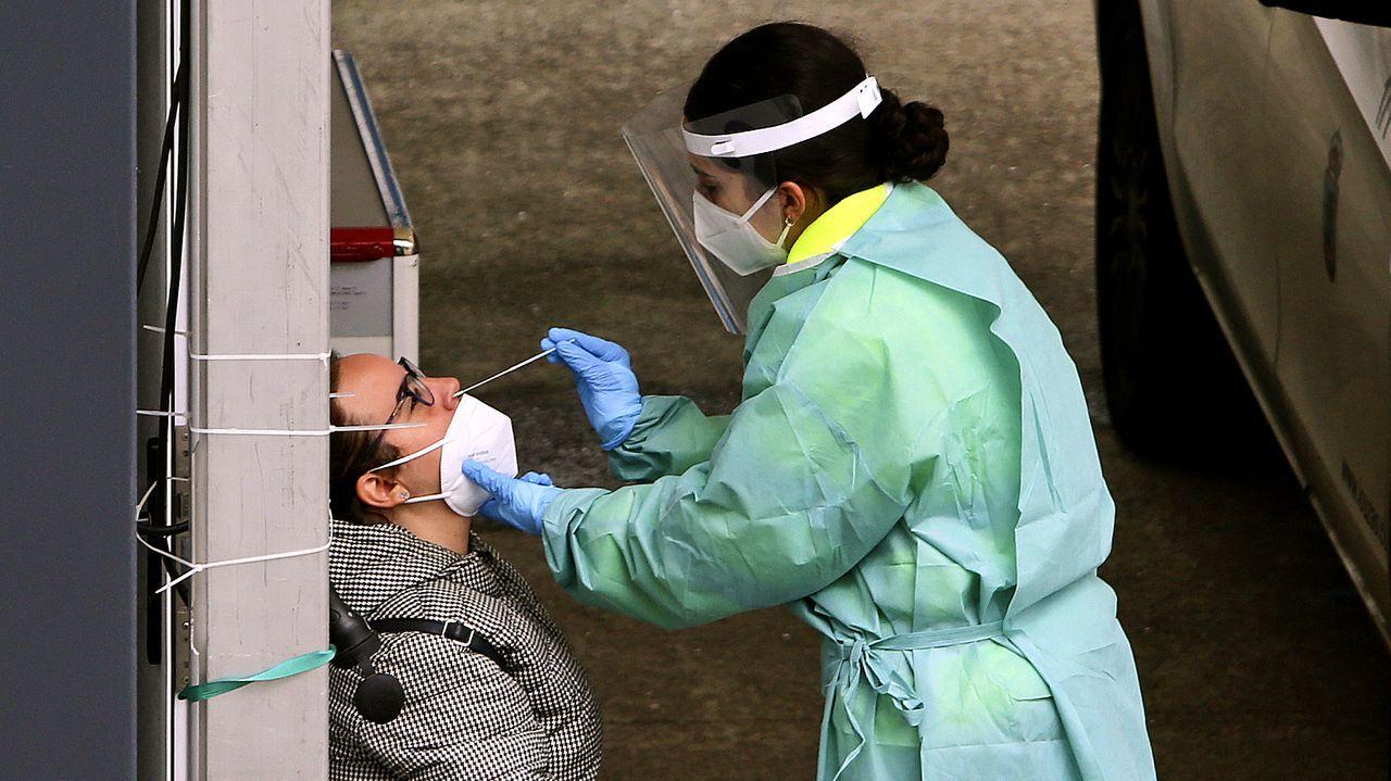 Test de coronavirus en el Cunqueiro, en Vigo