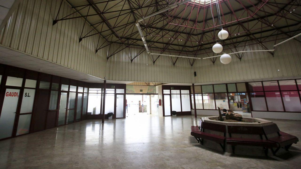 Interior de la estación de autobuses de Vilalba, inaugurada en los años noventa