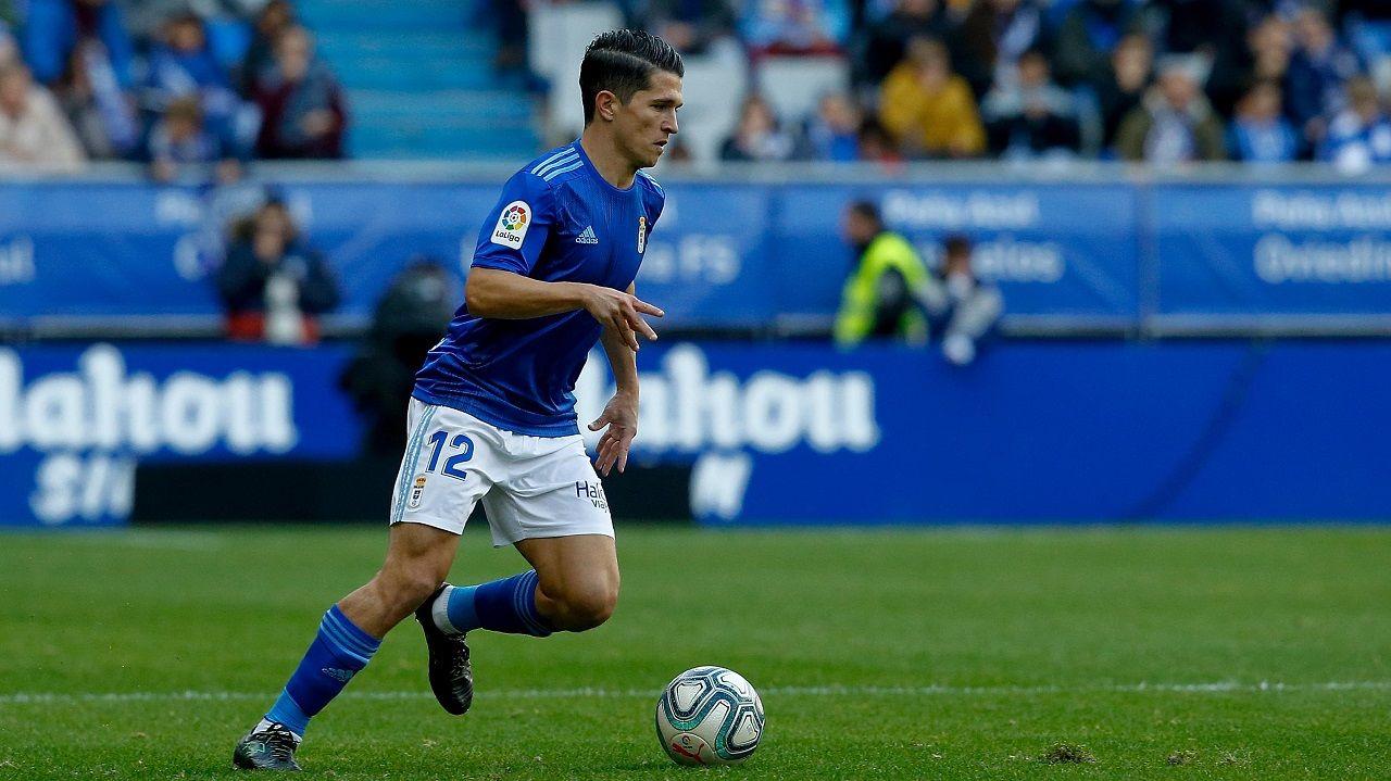 Vetusta Internacional Requexon.Juanjo Nieto durante el Real Oviedo-Sporting