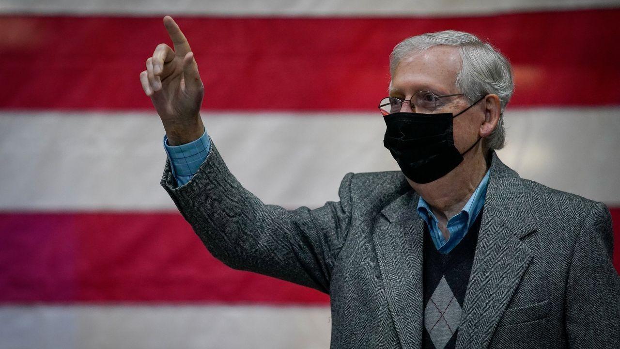 El republicano Mitch McConnel es el actual presidente del Senado de Estados Unidos