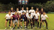 Alfredo, arriba-segundo por la izquierda, con el cuerpo tecnico de la selección china sub-14