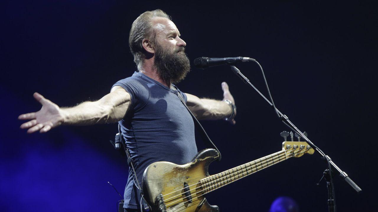 Sting, en su última visita a Galicia, en julio del 2015 en el Coliseo coruñés