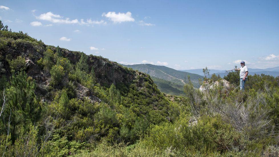 Vista de la mina desde su parte alta