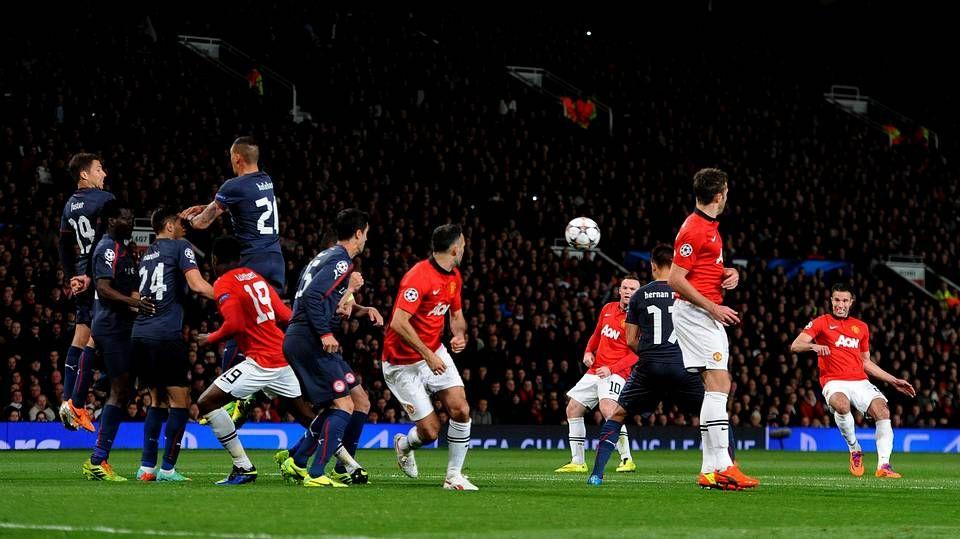Imagen de un Manchester United-Olympiacos la pasada temporada
