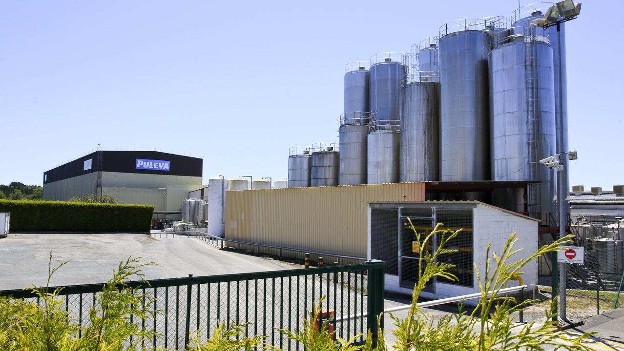 San Facundo de Ribas de Miño conjunto declarado de Interés Nacional.Imagen de la planta de Lactalis, en Vilalba