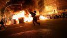 Disturbios anoche en Barcelona para protestar por el encarcelamiento del rapero Pablo Hasel