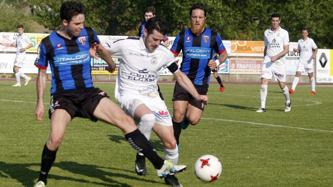 Partido de fútbol entre Noia y Céltiga