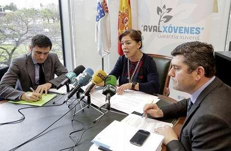 La conselleira de Traballo, Beatriz Mato, presentó ayer la innovadora iniciativa.