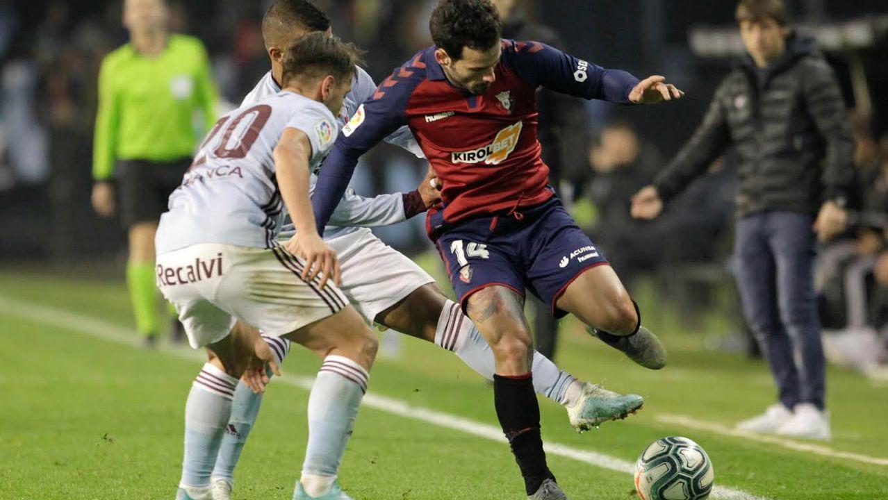 Kaptoum celebra un tanto con el filial del Barcelona