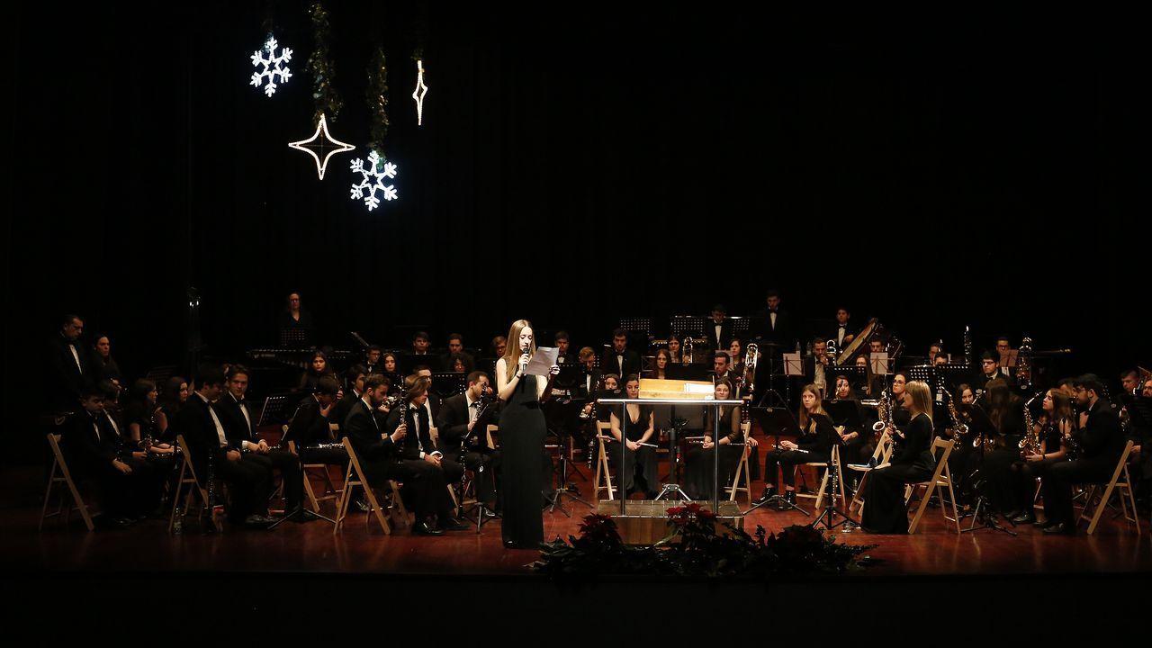 Concierto de fin de año de la banda de música de Vilagarcía