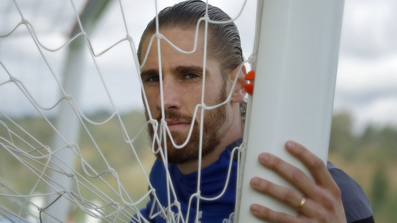 Vetusta Bilbao Athletic Requexon.Nikola Jerkan, exjugador del Real Oviedo