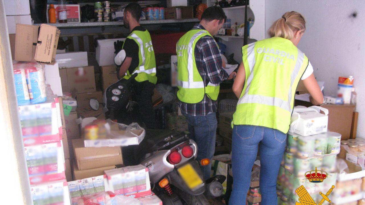 Accidente mortal en Salamanca concuatro jóvenes fallecidos.Garaje en el que el condenado guardaba los alimentos que intercambiaba por sexo