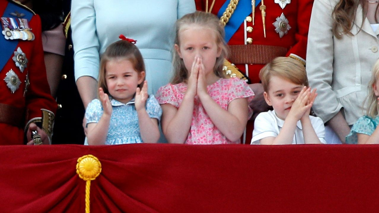 Durante un acto en Buckingham Palace