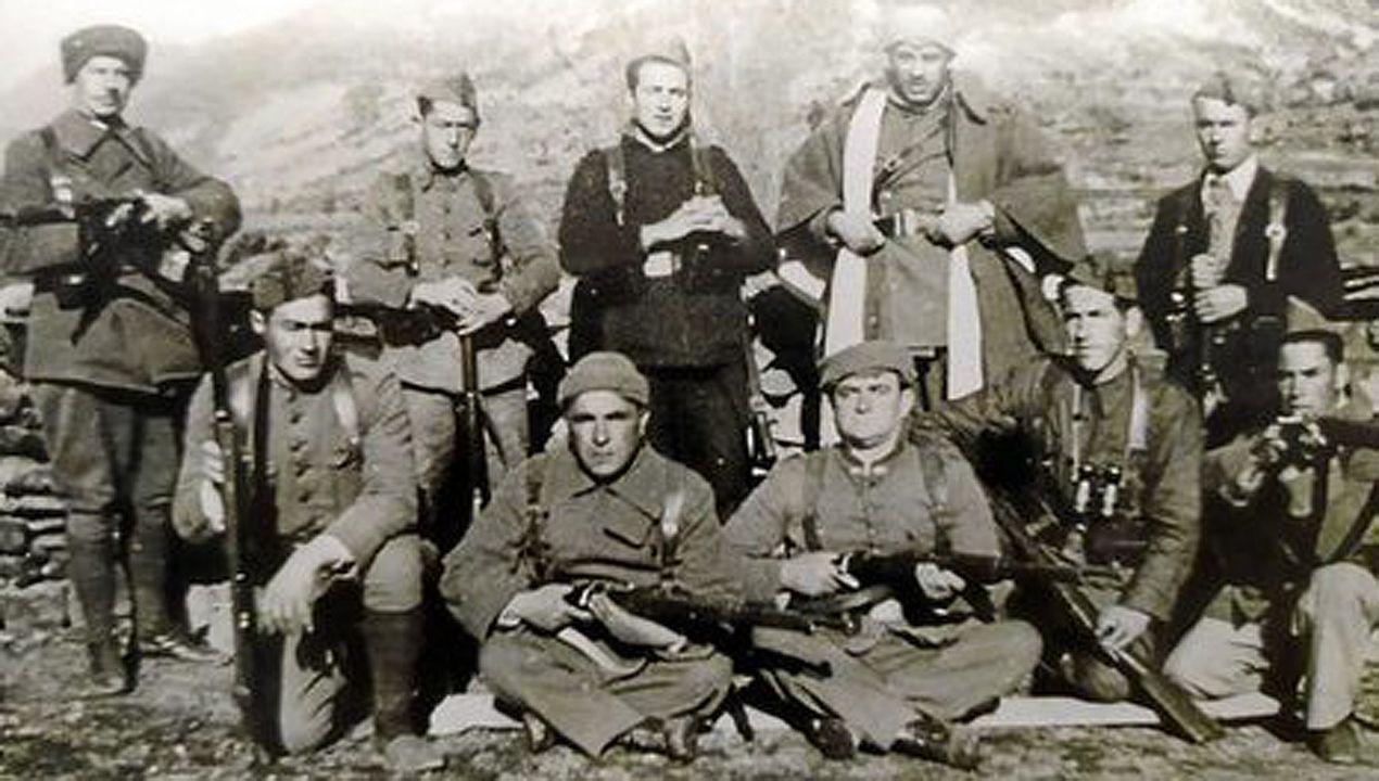 Guerrilleros del maquis, en la etapa posterior a la Guerra Civil. Muchos sufrieron detenciones por infiltrados que trabajan para el servicio secreto franquista