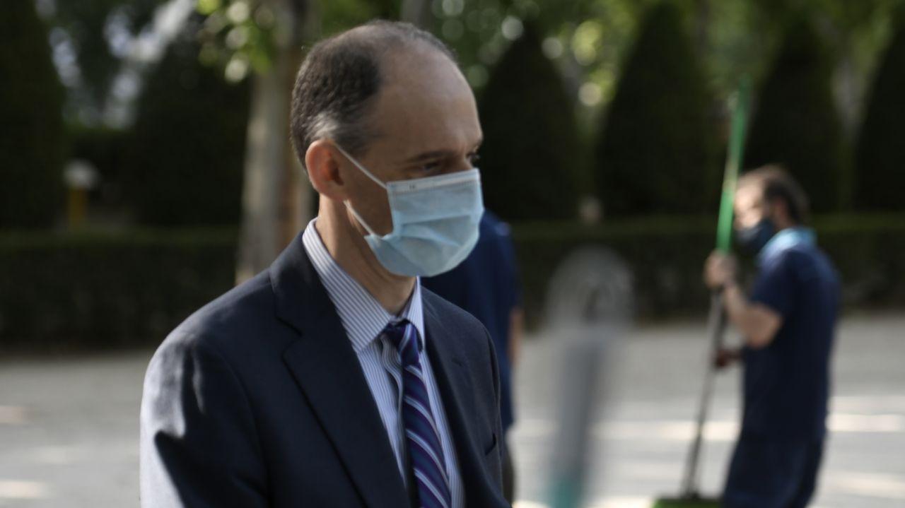 El inspector Manuel Morocho, este martes, a su llegada a la Audienica Nacional