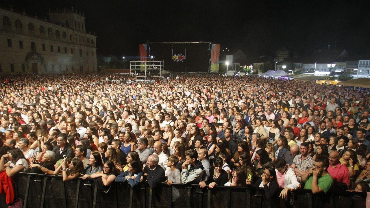 Aspecto de la explanada de la Compañía en un concierto de las fiestas del pasado año