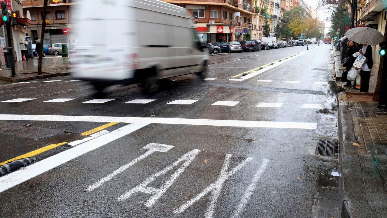 Huelga de taxis en Valencia.