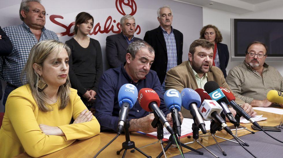 Los socialistas divididos en dos ruedas de prensa.Besteiro, hoy en Lugo