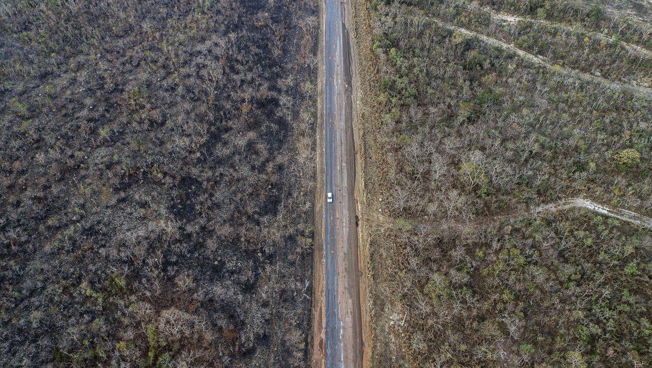 Paisaje fragmentado por la acción humana en la Amazonia