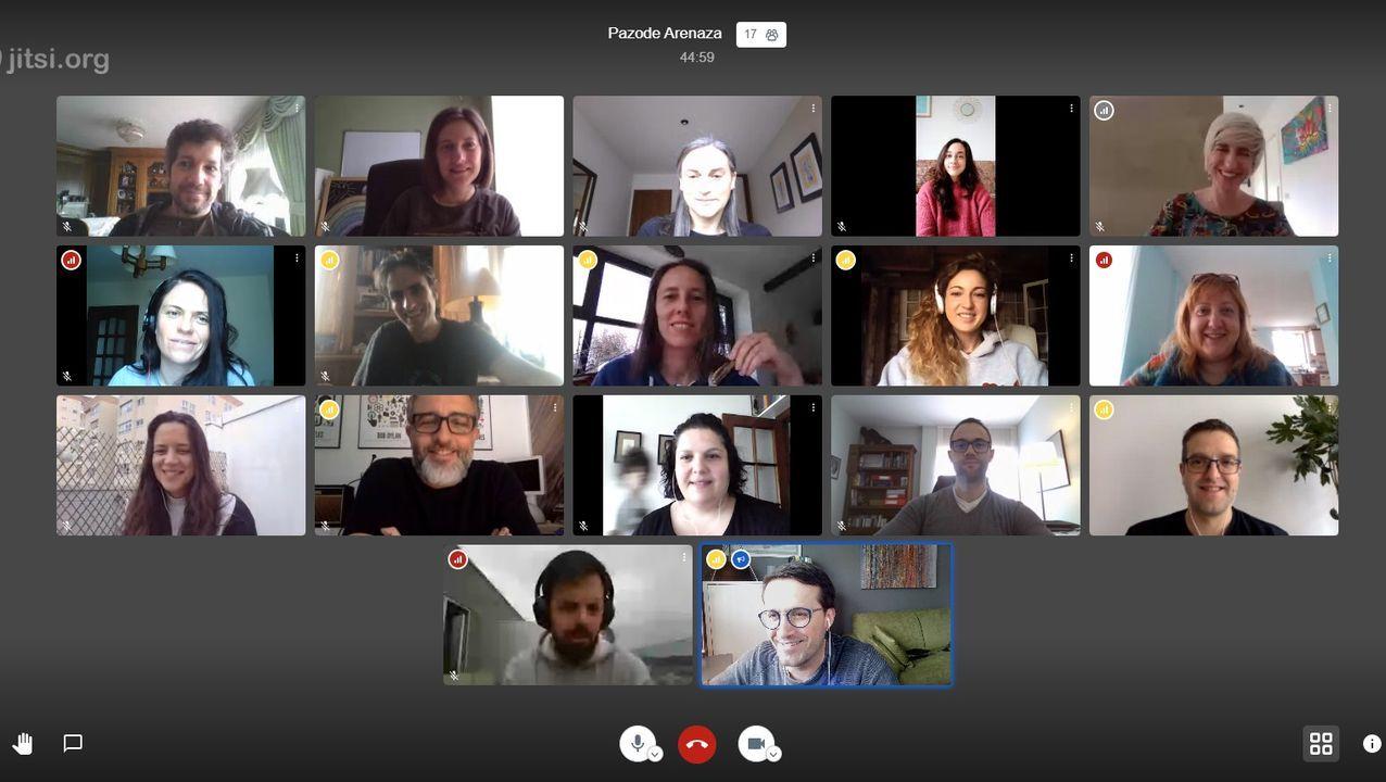 Vídeoconferencia de los emprendedores del Pazo de Arenaza