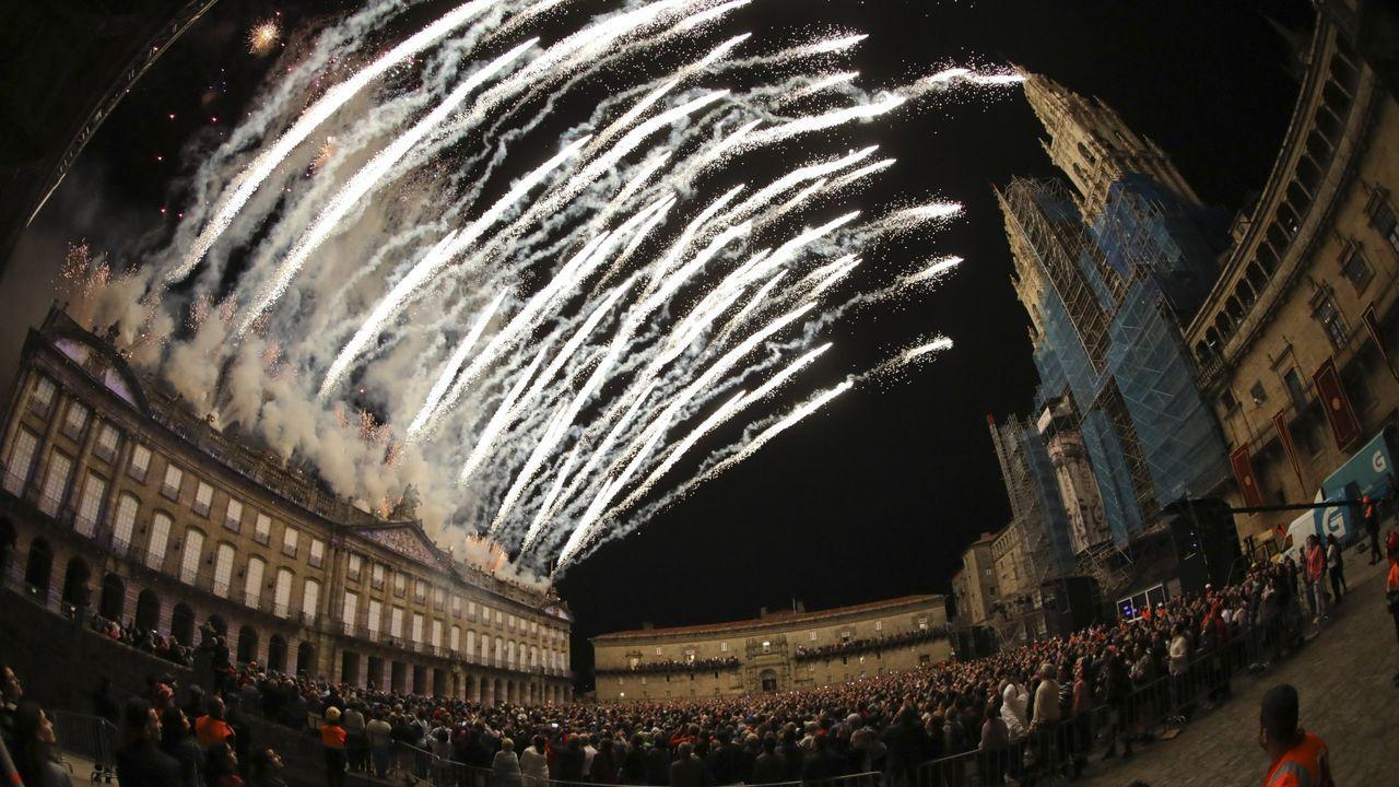 Este tipo de imagen tan espectacular no volverá a verse en Compostela