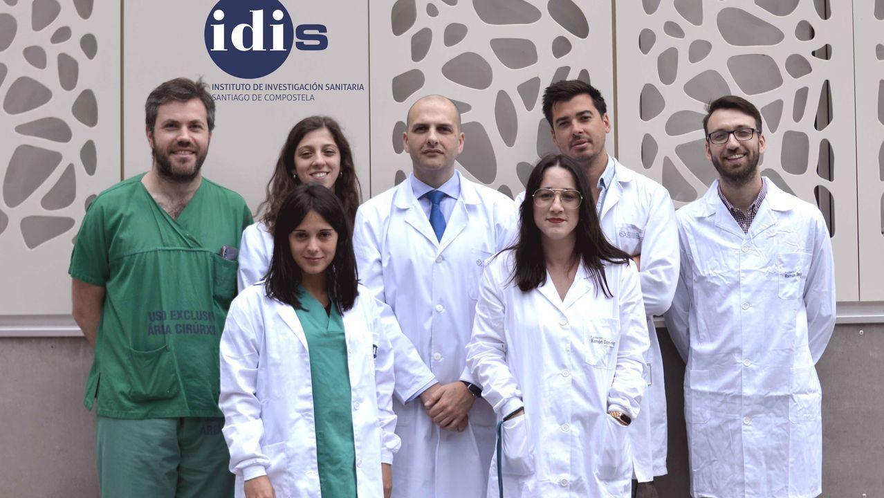 El equipo investigador en una foto justo antes de la pandemia