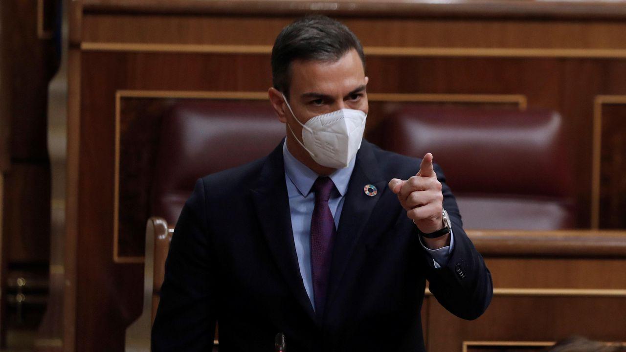Pedro Sánchez, en el Congreso durante una sesión de control al Gobierno