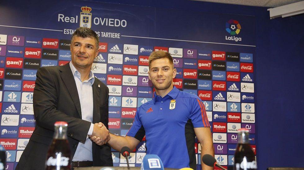 Miguel Pérez Cuesta, Michu.Señé, Aspas y Bongonda celebran el gol en Florencia