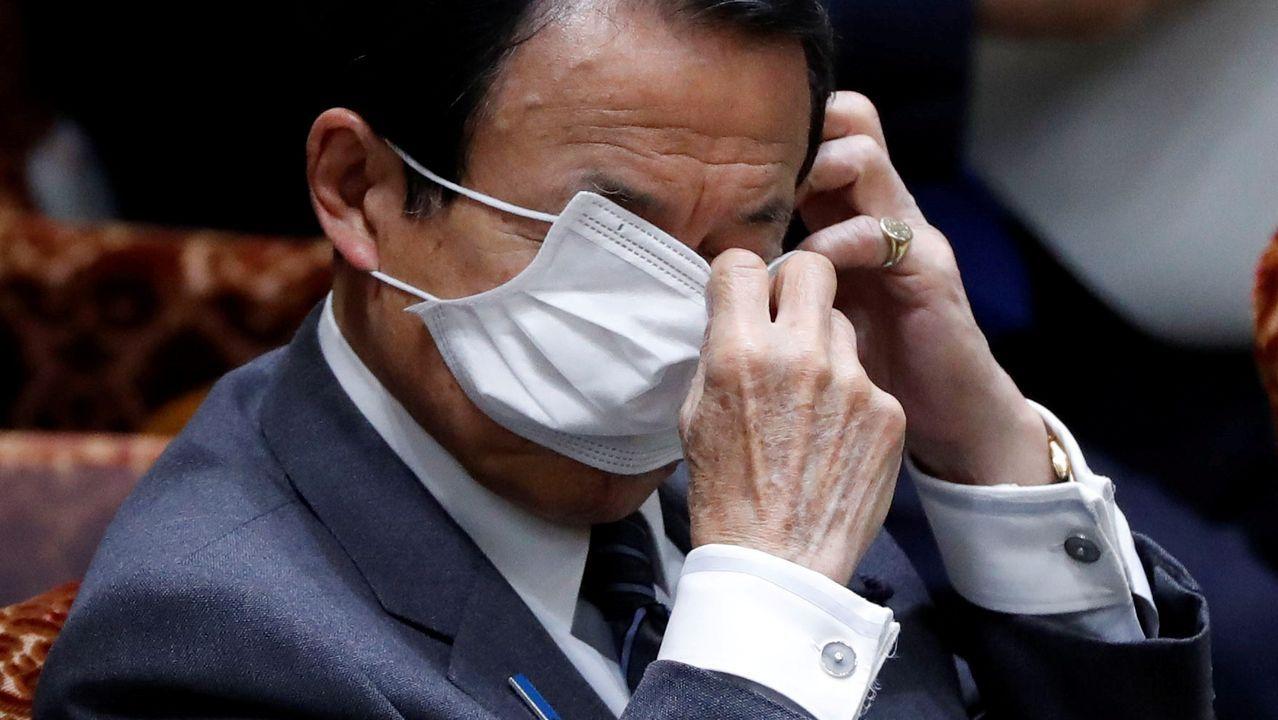 El ministro de Finanzas japonés, Taro Aso