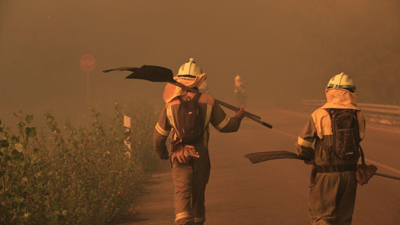Monforte: el mayor incendio del verano en Galicia