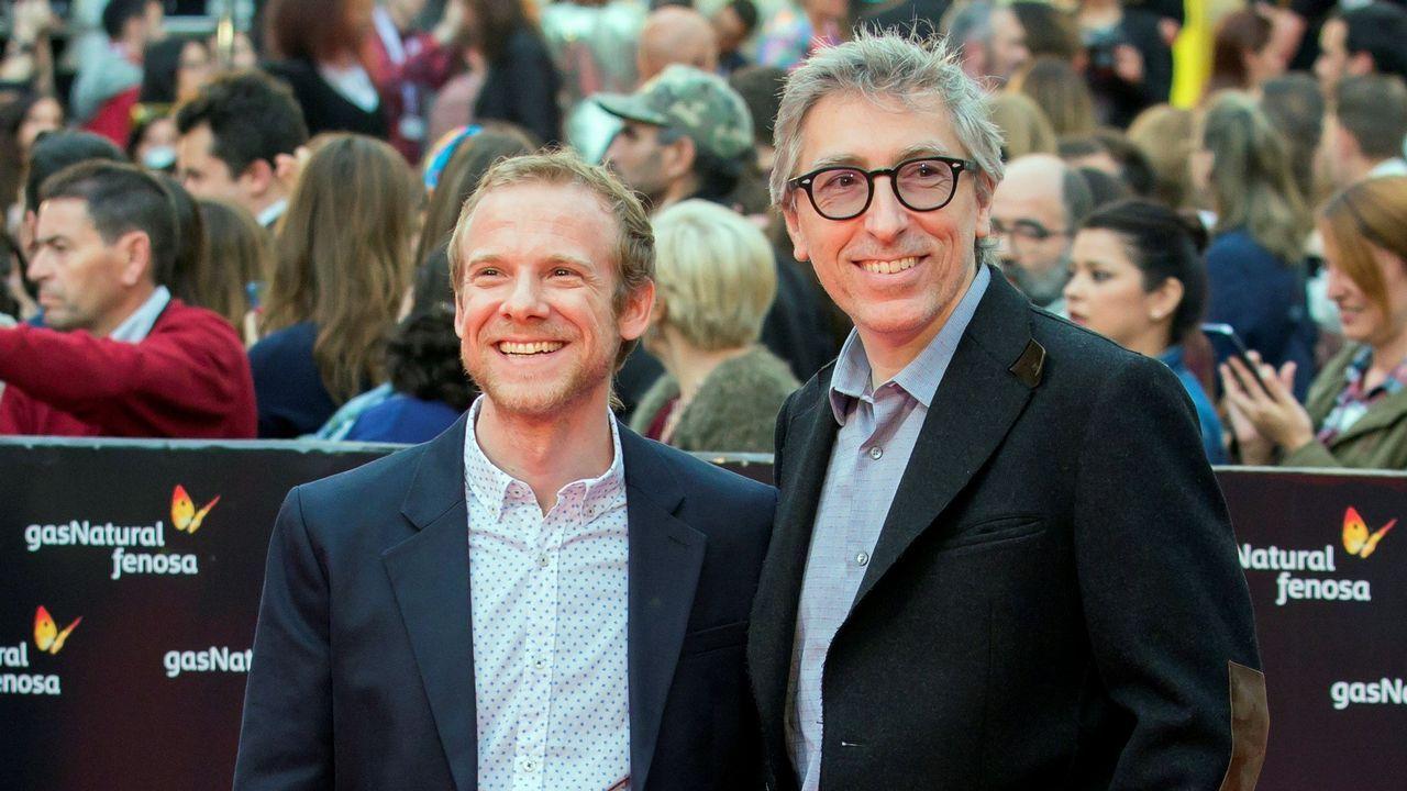 El actor Fernando Ramallo y el director David Trueba