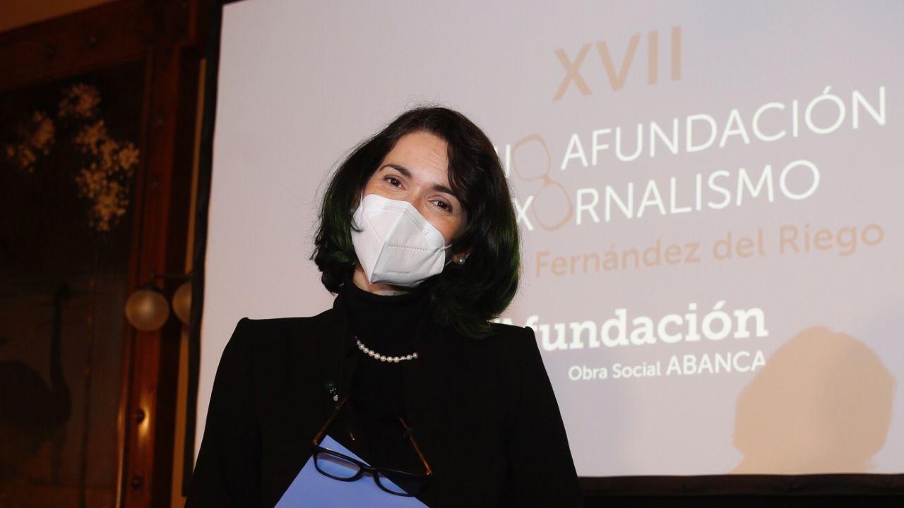 Cristina Pato, tras gañar o premio Afundación de Xornalismo