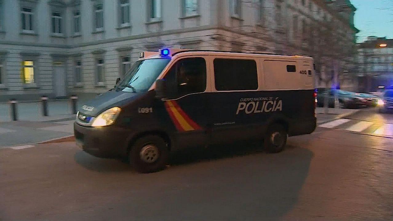 Sito Miñanco llega a la Audiencia Nacional.Chalé de Algeciras en el que fue detenido Sito Miñanco