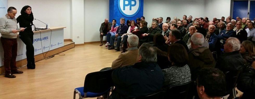 Candia y Carballo quisieron agradecer el apoyo a los compromisarios de la capital lucense que votarán en el congreso del domingo.