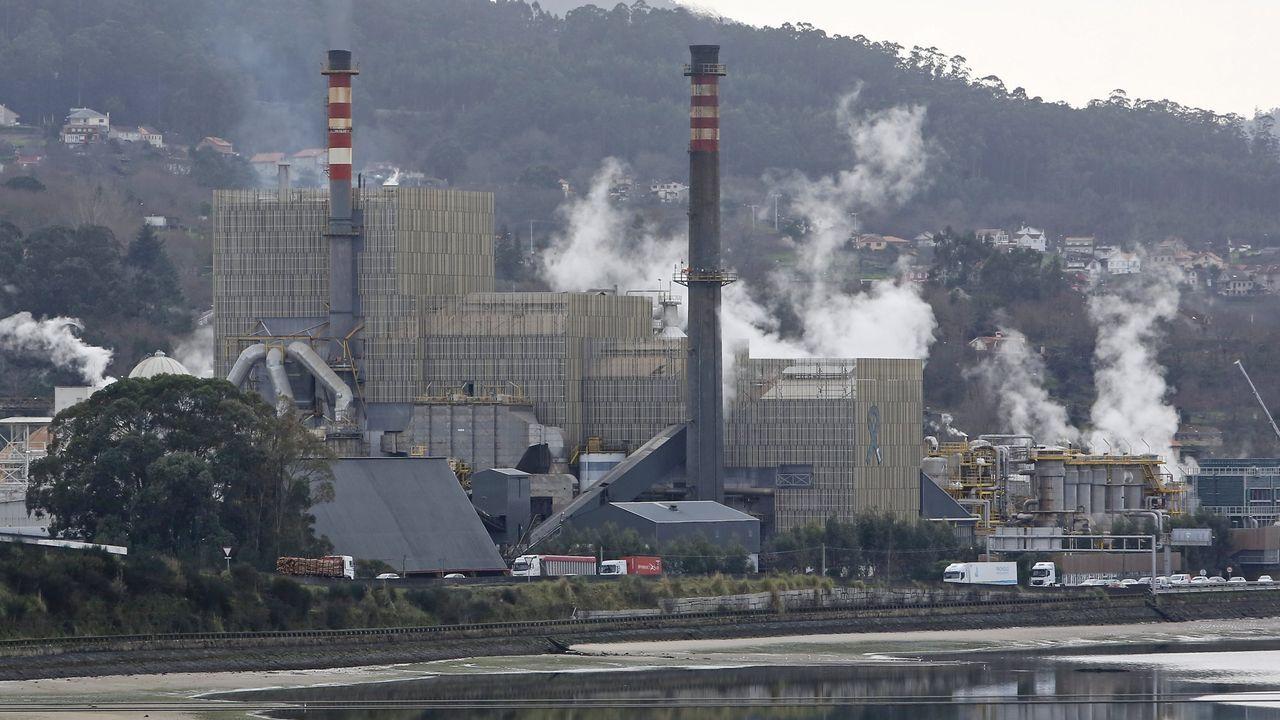 Fábrica de Ence en Navia