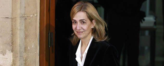 La infanta Cristina abandona el juzgado de Palma