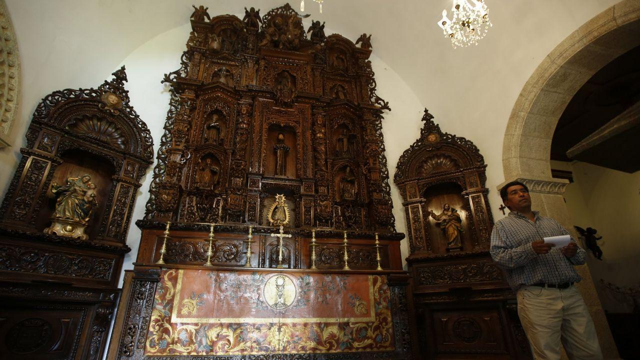 La USC proyecta la Cidade da Saúde frente al Hospital Clínico.Los retablos de la capilla de Meirás en una visita de intelectuales autorizada en el 2016