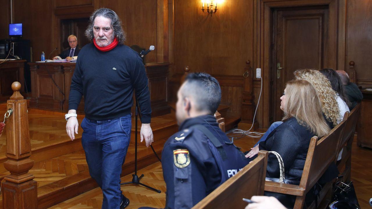 Miñanco durante el juicio en la Audiencia Provincial