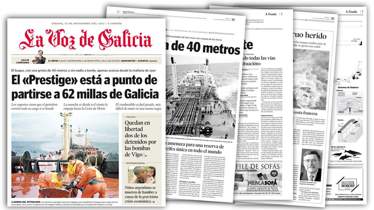 Las imágenes del naufragio del Mar Egeo, la tragedia que marcó a los coruñeses hace 27 años.Cuatro primos percebeiros analizan el estado del percebe tras llegada de la marea negra