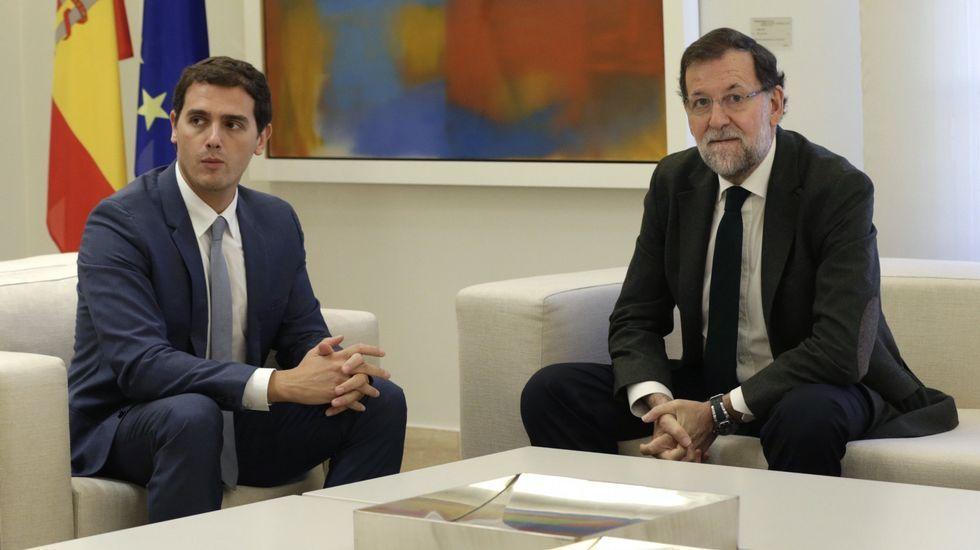 Encuentro en la Moncloa entre Rajoy y Rivera con motivo del desafío secesionista de Cataluña el pasado 30 de octubre.