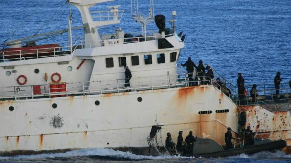 El «Kunlun», vinculado a Vidal, abordado por autoridades australianas tras ser acusado de piratería.
