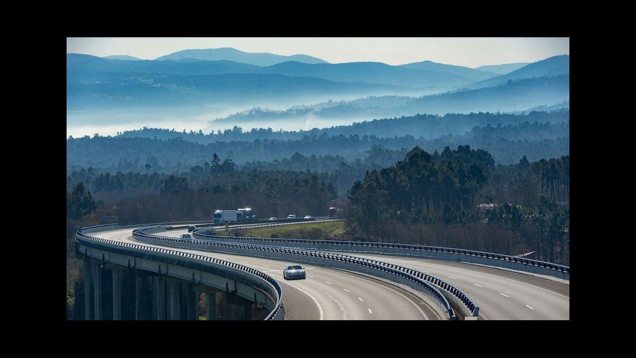 Uno de los viaductos en el tramo del ave que va a ser cofinanciado por la Comisión Europea