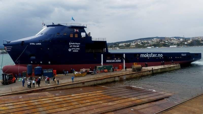 La infografía permite comprobar cómo será el buque oceanográfico que hará Gondán para Noruega.