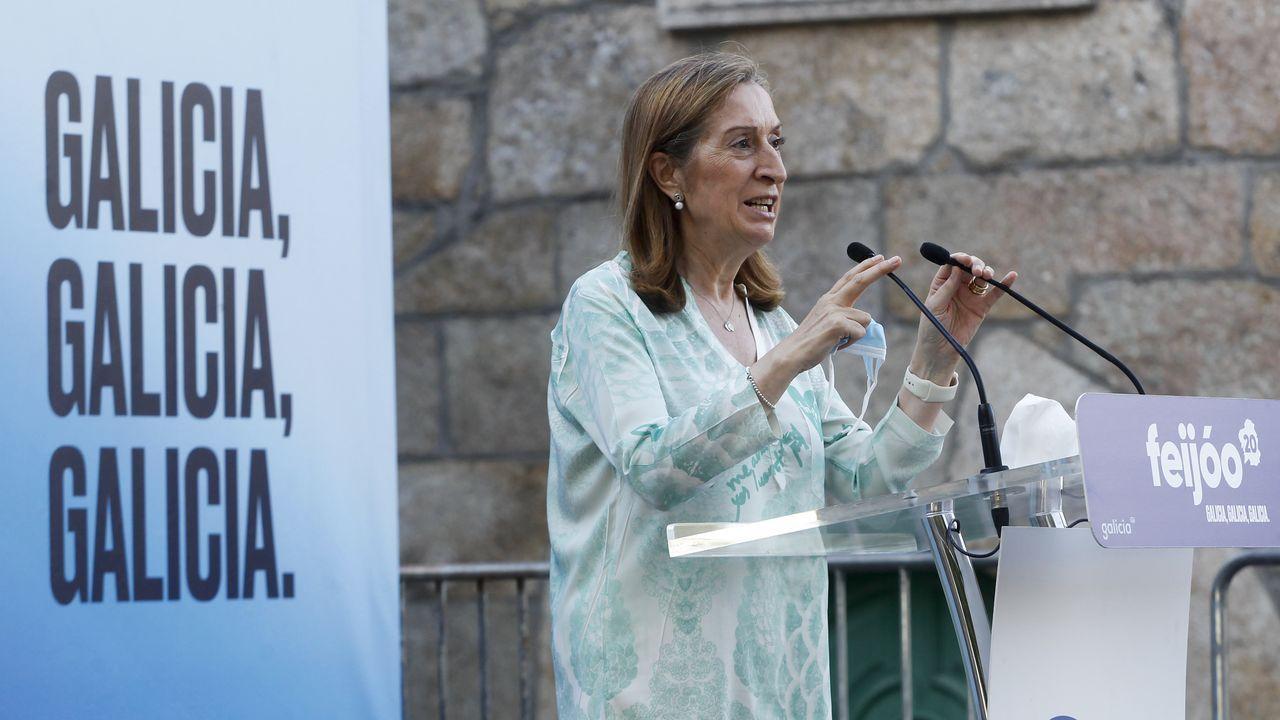 Ana Pastor en la campaña de las elecciones autonómicas del 2020