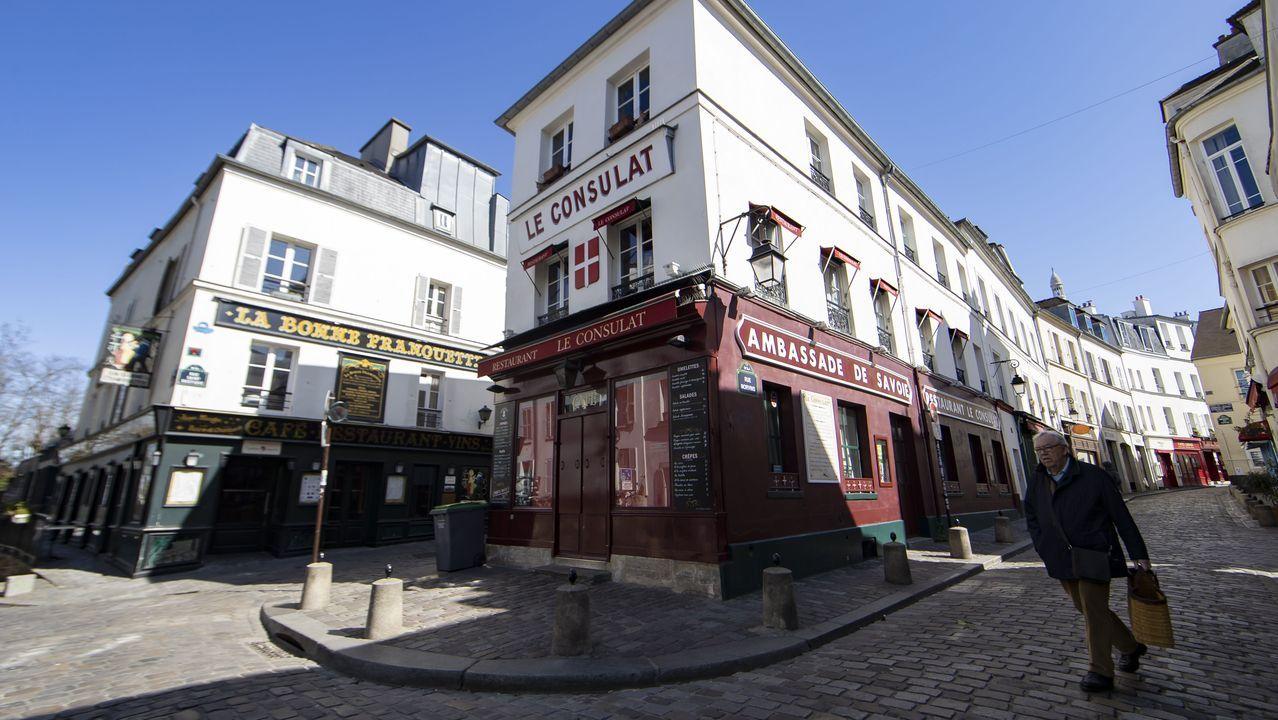 Calles desiertas en Montmartre.
