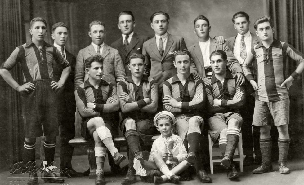 Equipo do Moaña Foot Ball Club, no ano 1925.