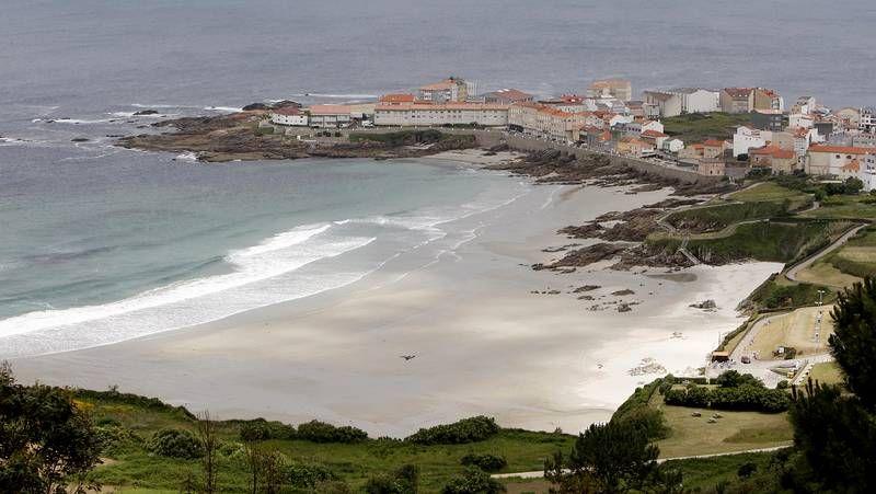 Playas con bandera azul del área de Vigo en el 2014.Playa de Caión.