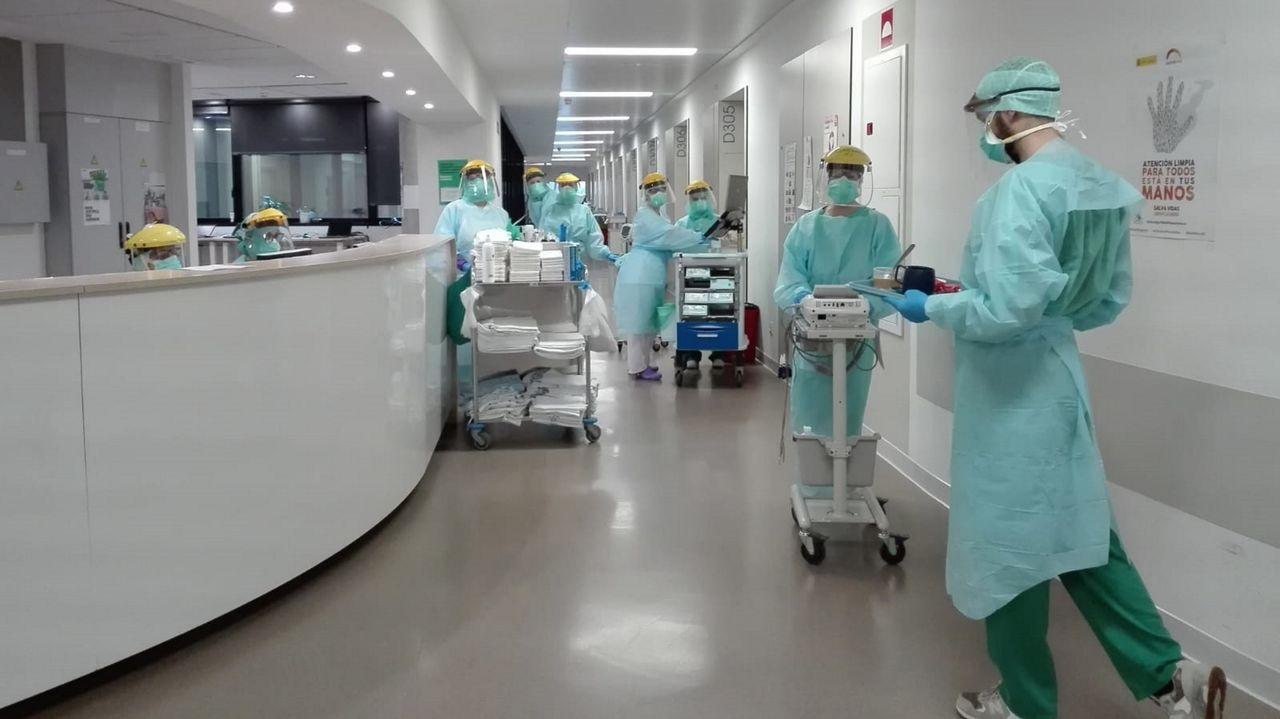 Planta D3 del Cunqueiro, que quedará reservada para pacientes de covid-19 y sospechas